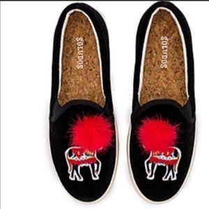 """SOLUDOS women's sz8 """"velvet show pony sneaker"""""""